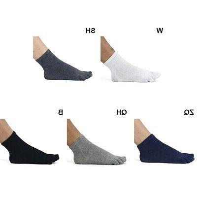 Men 5 Socks Breathable Ankle Hosiery Colors