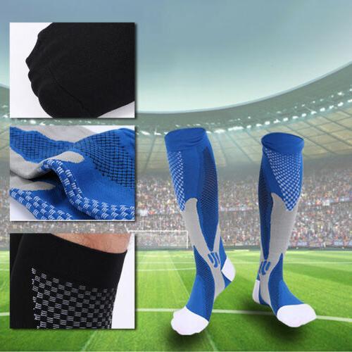 Men Athletic Knee Length Socks Football Cotton Blend Stockin