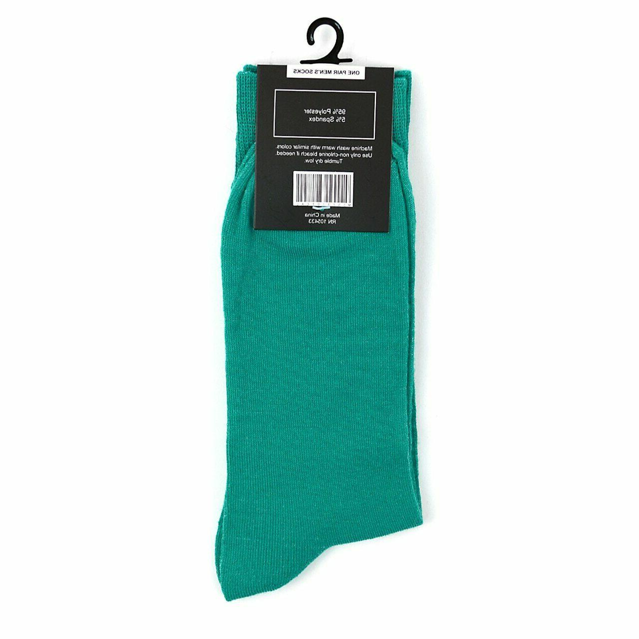 Feraricci Men Solid Crew Dress Socks 10-13 Shoe 8-12