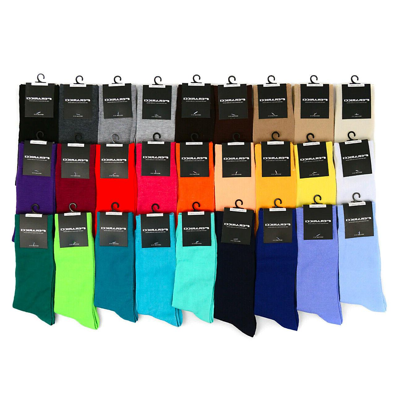 Feraricci Men Solid Socks Size 10-13 8-12