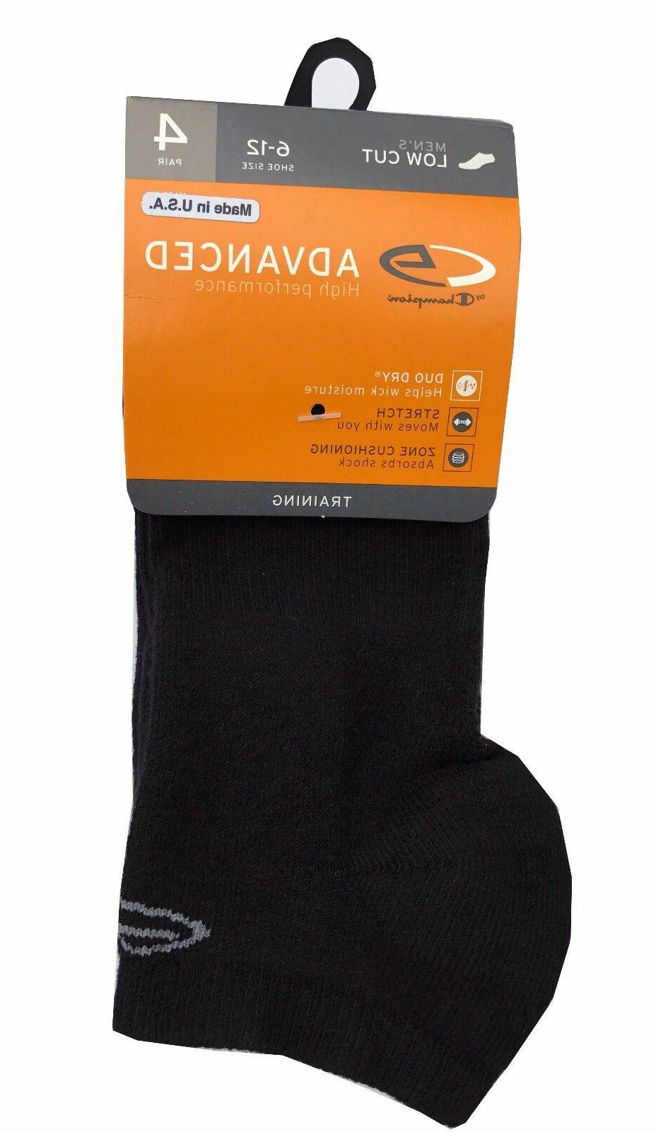 "C9 By Champion® Men's 4-pack Black Low Cut Socks  ""Double D"