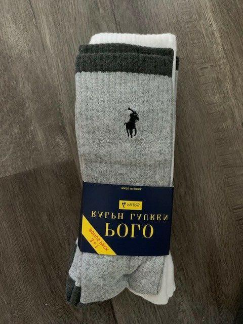 Polo Ralph Lauren Men's 4 Pack Crew Socks