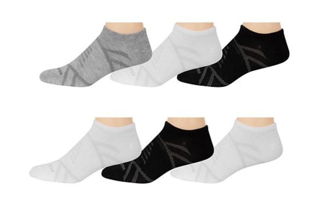 e408f7344cd54 New Balance Men's 6-Pack Flat Knit No Show Socks Black Grey