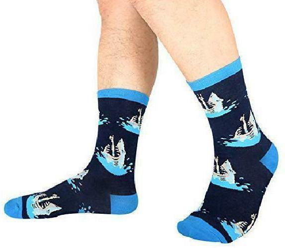 Zmart Men'S Shark Cat Corgi Socks, Cool Design