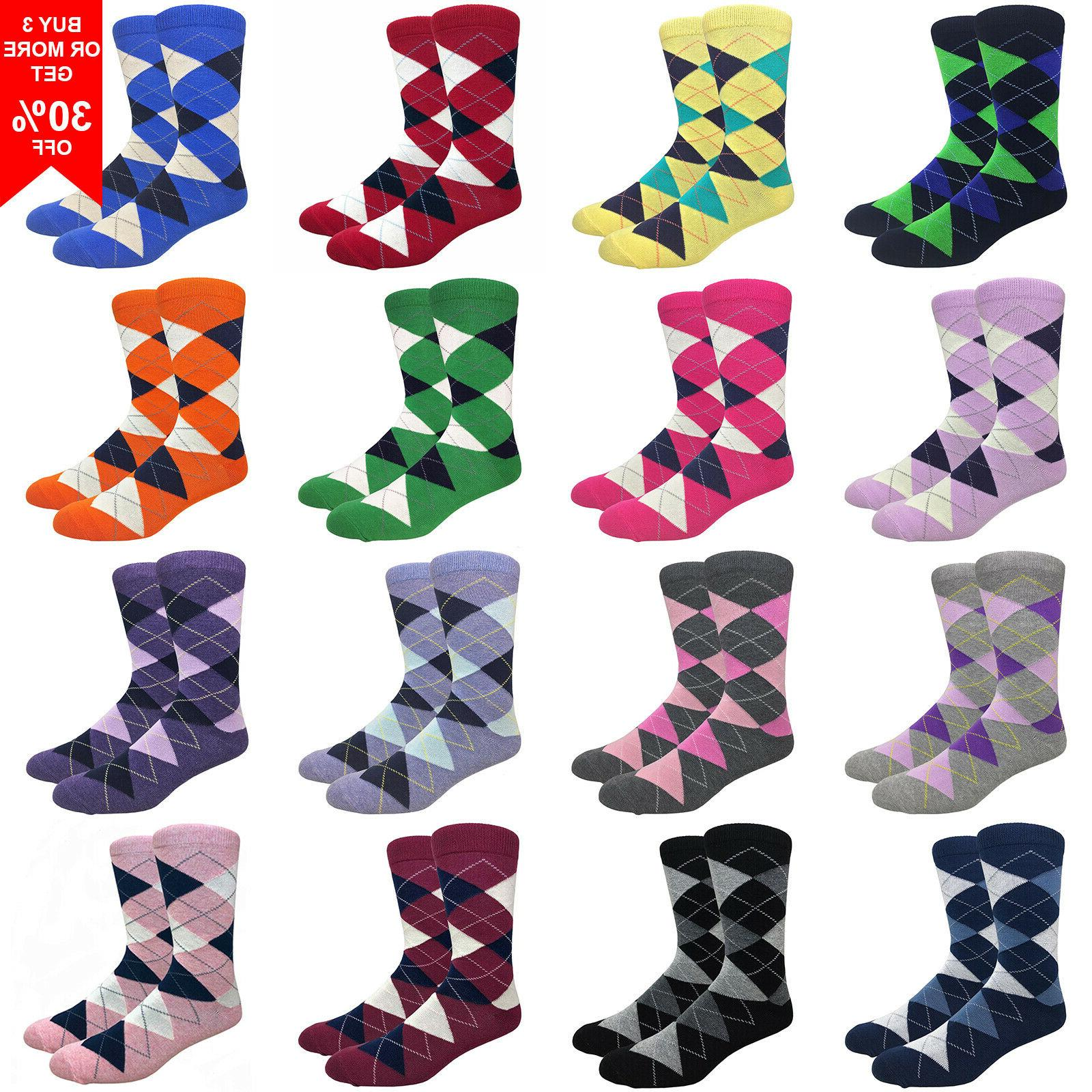 men s argyle cotton dress socks diamond