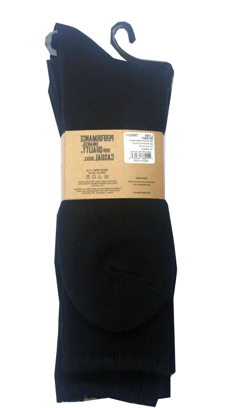 DOCKERS Blue Socks 3-Pack Fit 6-12 ""