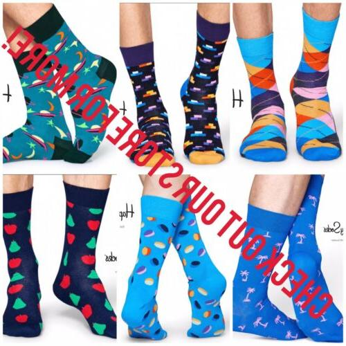 MEN'S COLORFUL STRIPE PATTERN SIZE CREW SOCKS