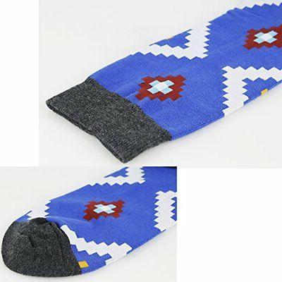 Zmart Men's Argyle Striped Socks