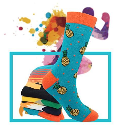 Men's Colorful Casual Socks - Casual Combed Dress Socks