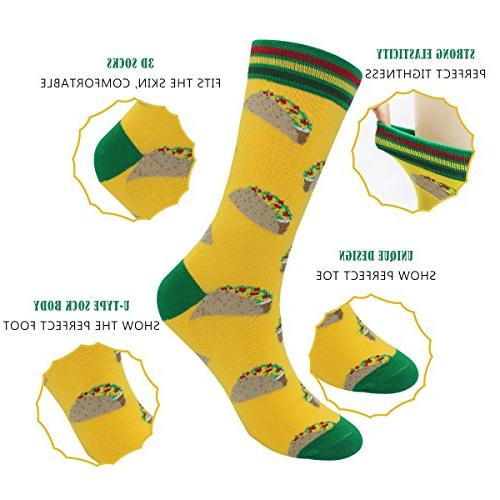 Men's Cool Casual Socks - Casual Cotton Dress Pack(Tsocks-4Pairs-pineapple)