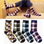 Men's Cotton Socks British Style Small Square Leisure Socks