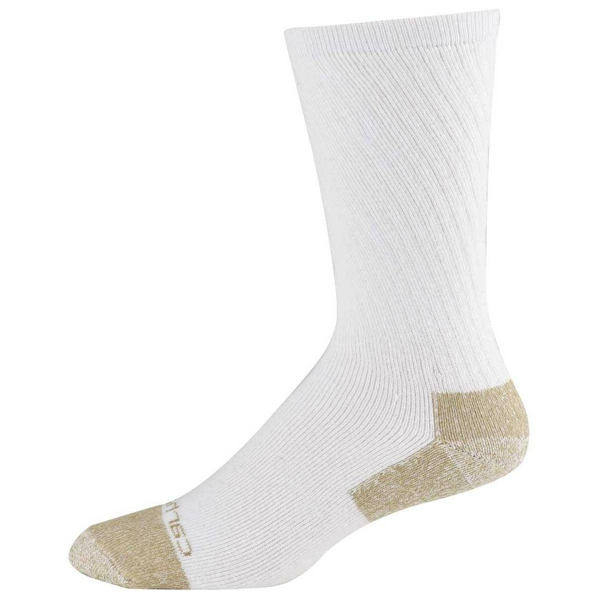 Carhartt A555 Men's Cotton Steel Toe Crew Sock 2 Pack