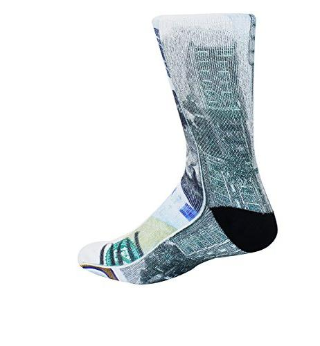 Zmart Money Print Funny Patterned Tube Socks