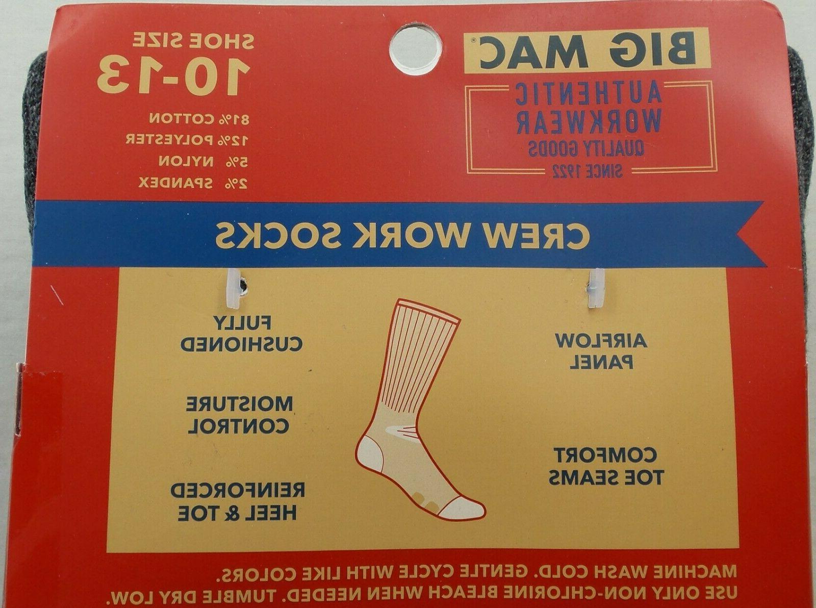 Big Mac Men's Boot Work 6 Grey Cotton New