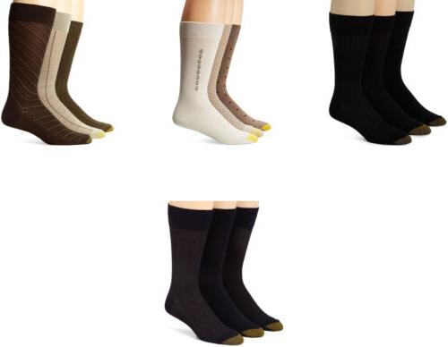 Gold Toe Men's Crew Fashion Patterned Dress Socks, Assorted