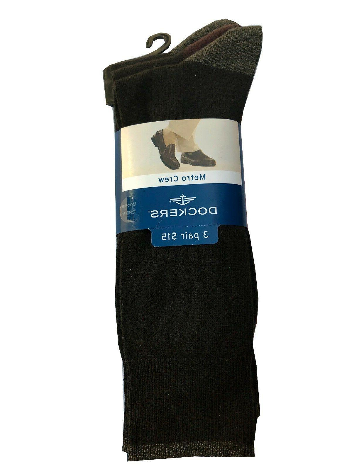 6a3013d82b0 Dockers® Men s Crew Socks 3-Pack Fit size 8-12