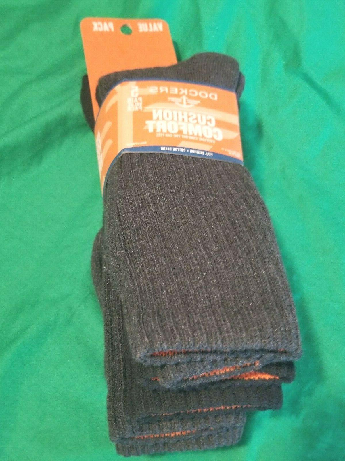 Dockers Men's Cushion Crew Socks NWT 6-12