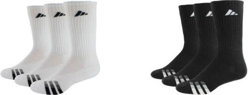 adidas Men's Cushioned Color Crew Socks, 3 Pairs, 2 Colors