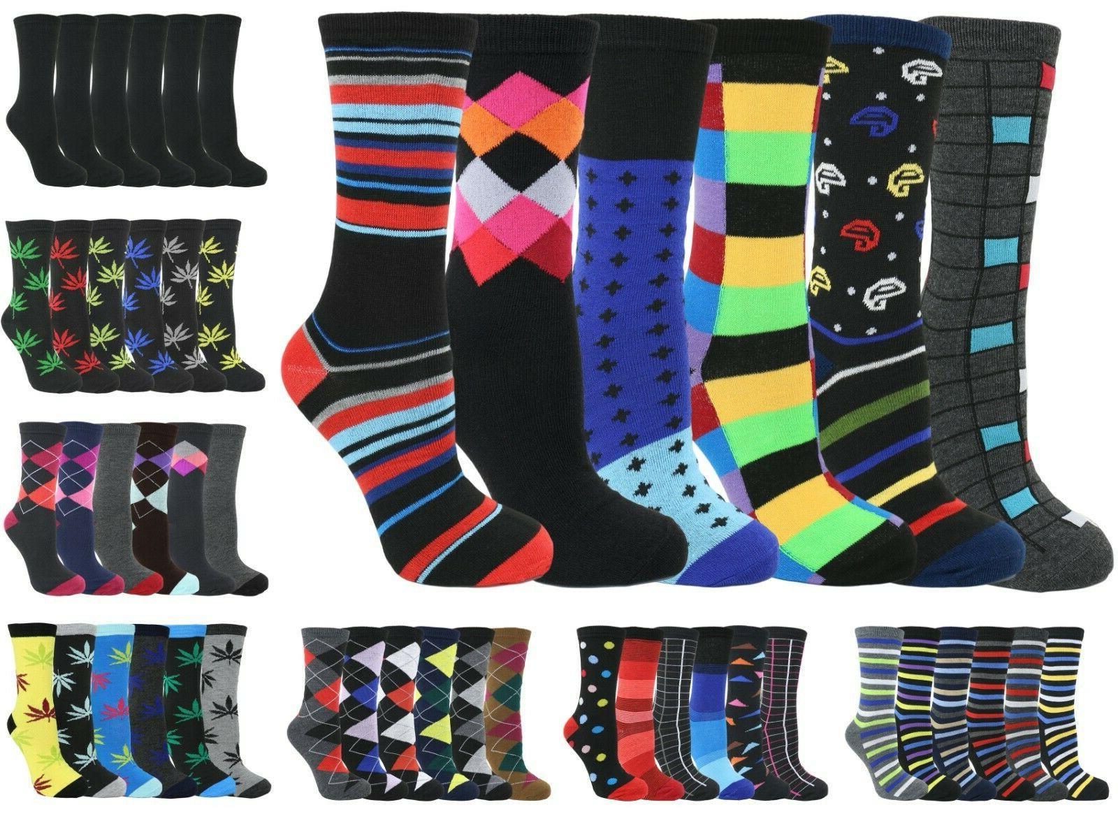 men s dress crew colorful cotton pattern