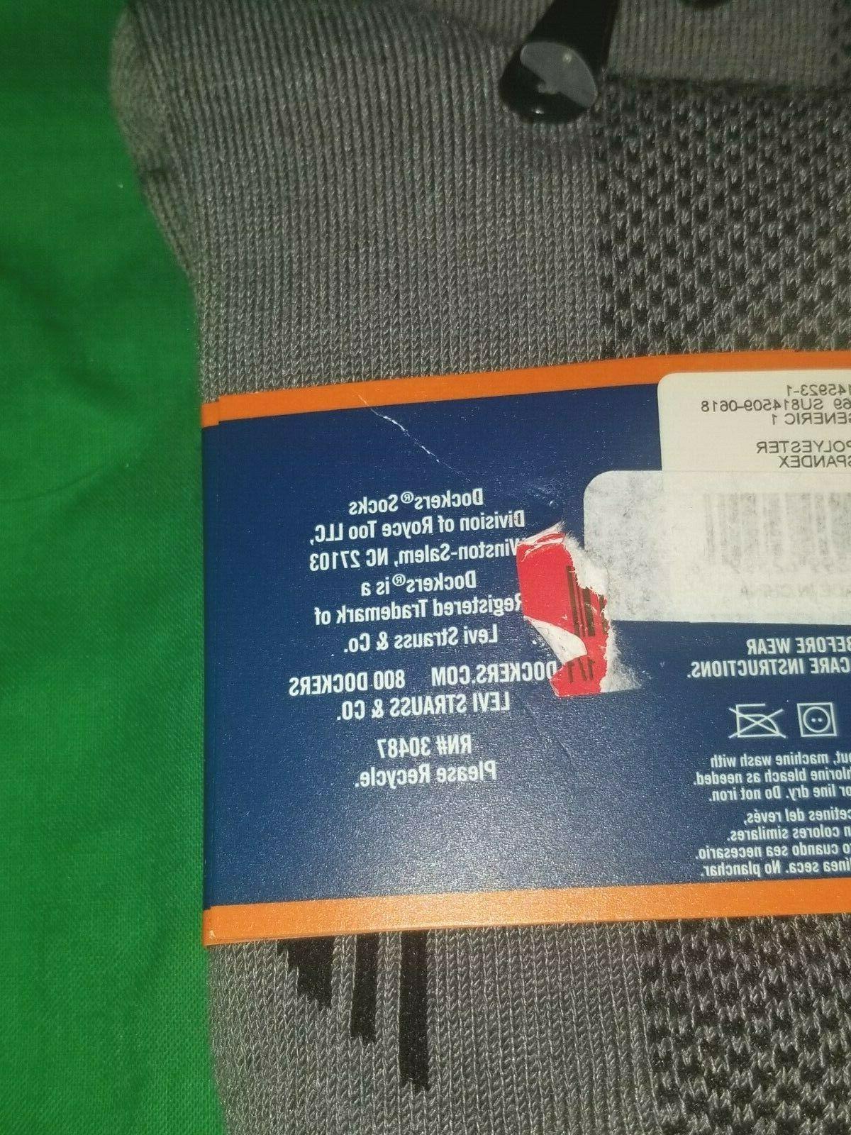 Dockers Men's Dress Socks 2 Pair Gray & Blue Size
