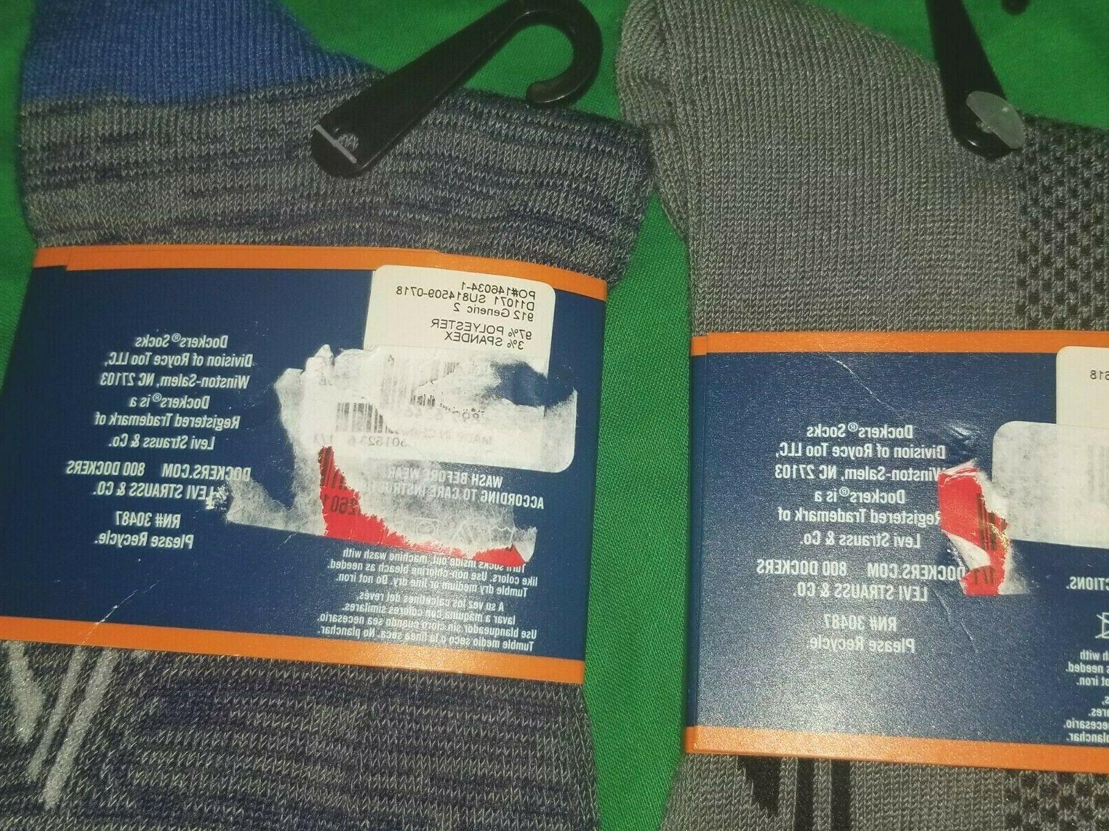 Dockers Men's 2 Pair NWT Gray & Blue Shoe Size