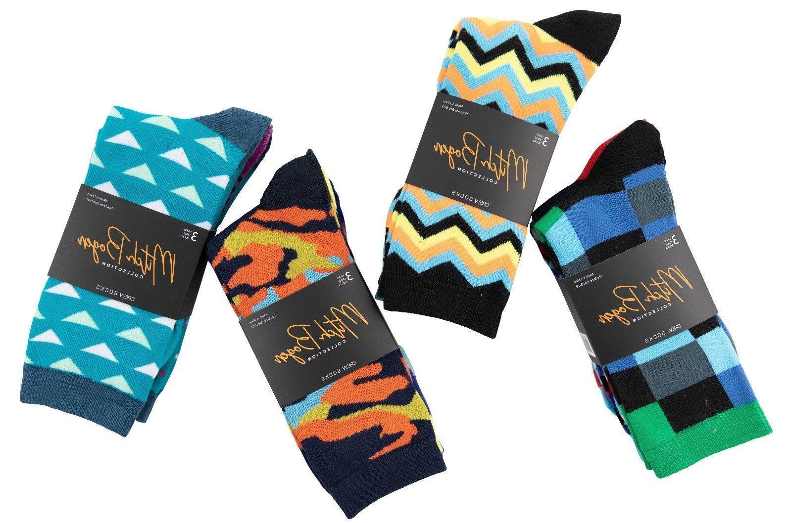 Men's 10-13 Funky Crew Socks