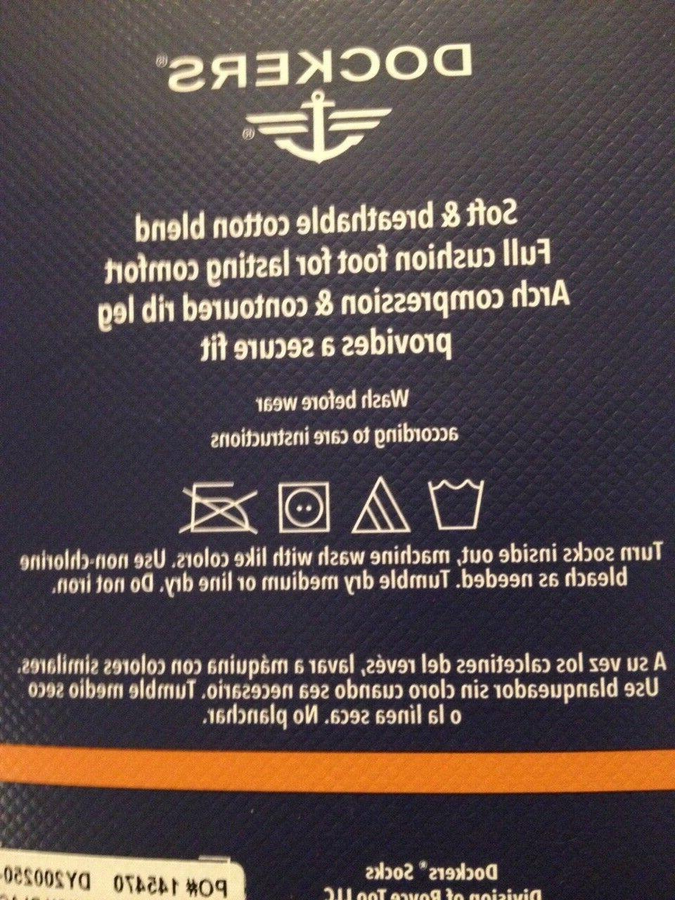 Dockers By Enhanced Crew Socks Shoe Size 6-12