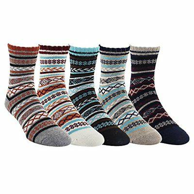 Zmart Men's Fall Winter Dress Crew Socks, Quarter Warm Wool