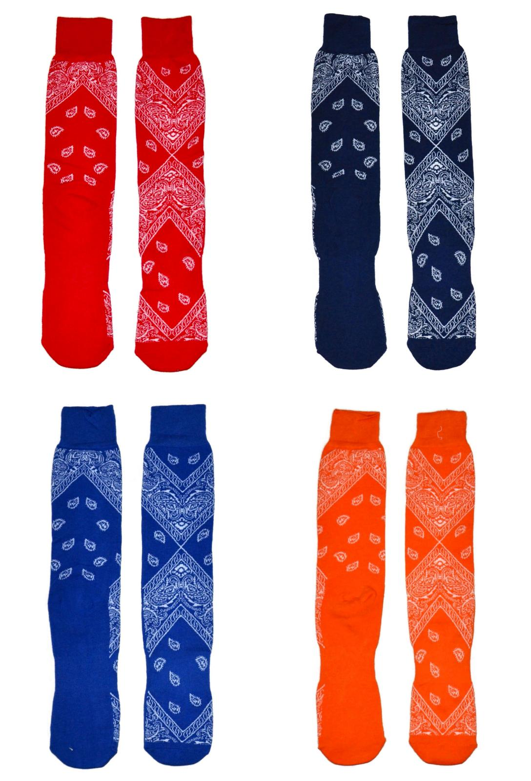 men s fun socks bandana print tube