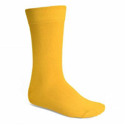 Men's Golden Yellow Solid Color Socks