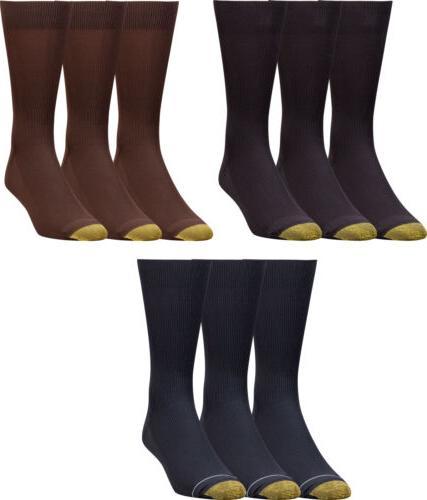 Gold Toe Men's Metropolitan Dress Sock, 3 Colors, 3 Pairs