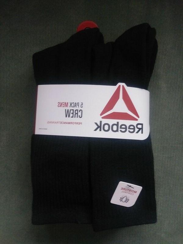Men's REEBOK Moisture Control Polyester/Spandex Stretch Blac