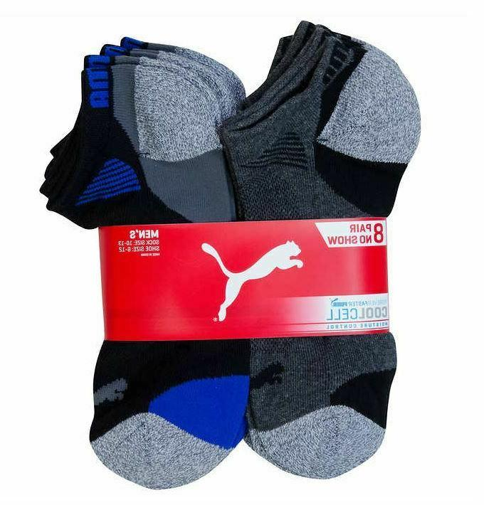 Puma No Low Cut Socks, 8-pair Select Color and Size