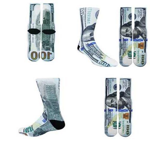 men s novelty crazy 3d money print