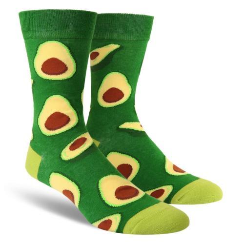 Zmart Men's Novelty Crazy Funky Fruit Crew Socks Cool Funny