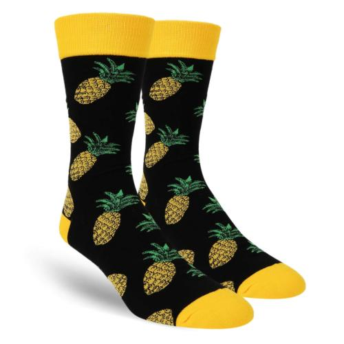 Zmart Men's Novelty Crazy Funny Pineapple Crew Socks Cool Fu