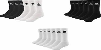 adidas Men's Originals Cushioned Crew Socks, 6 Pairs, 5 Colo
