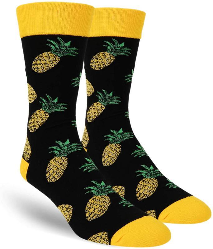 Zmart Men'S Pineapple Avocado Taco Donut Socks, Novelty Funn