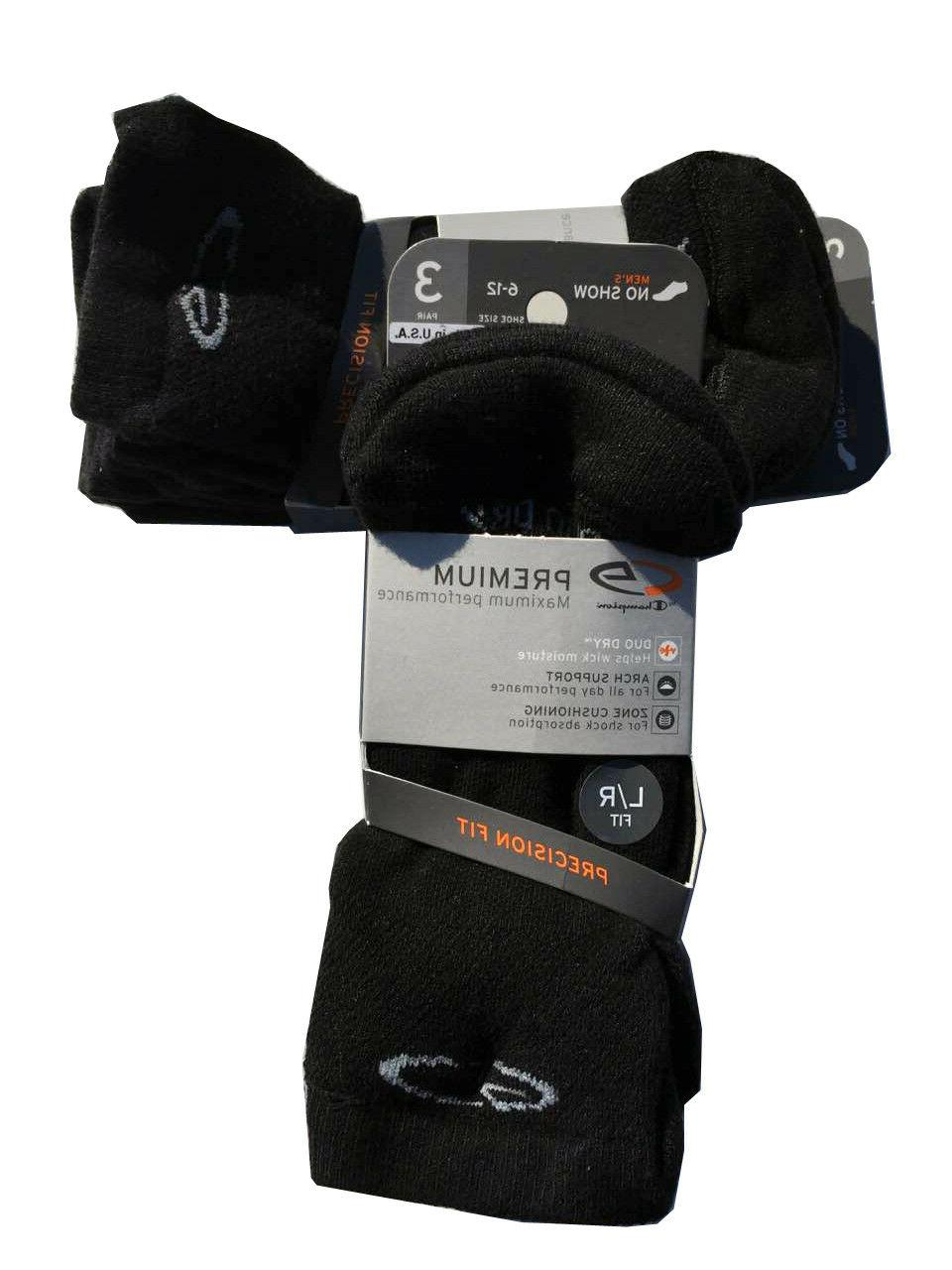 C9 Champion® Premium black no show sock DUO DRY Made