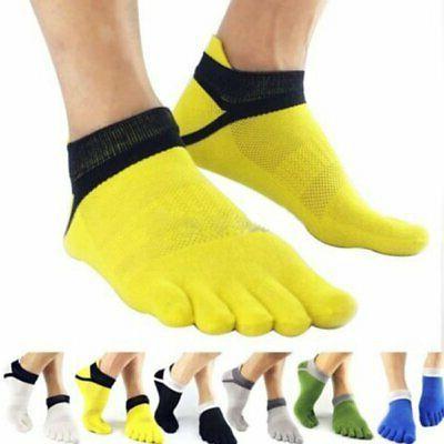 Men Sport 5 Toe Socks Anti-Slip Pilates Massage with Full Gr