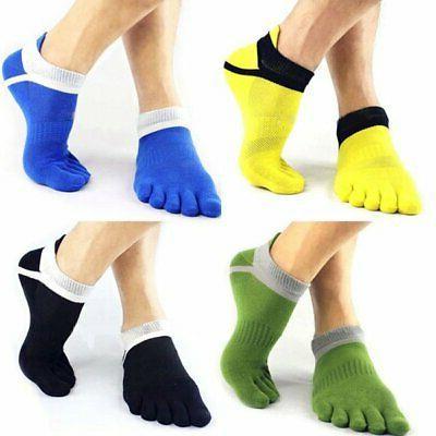 Men's Sport 5 Toe Socks Pilates Massage Exercise Gym