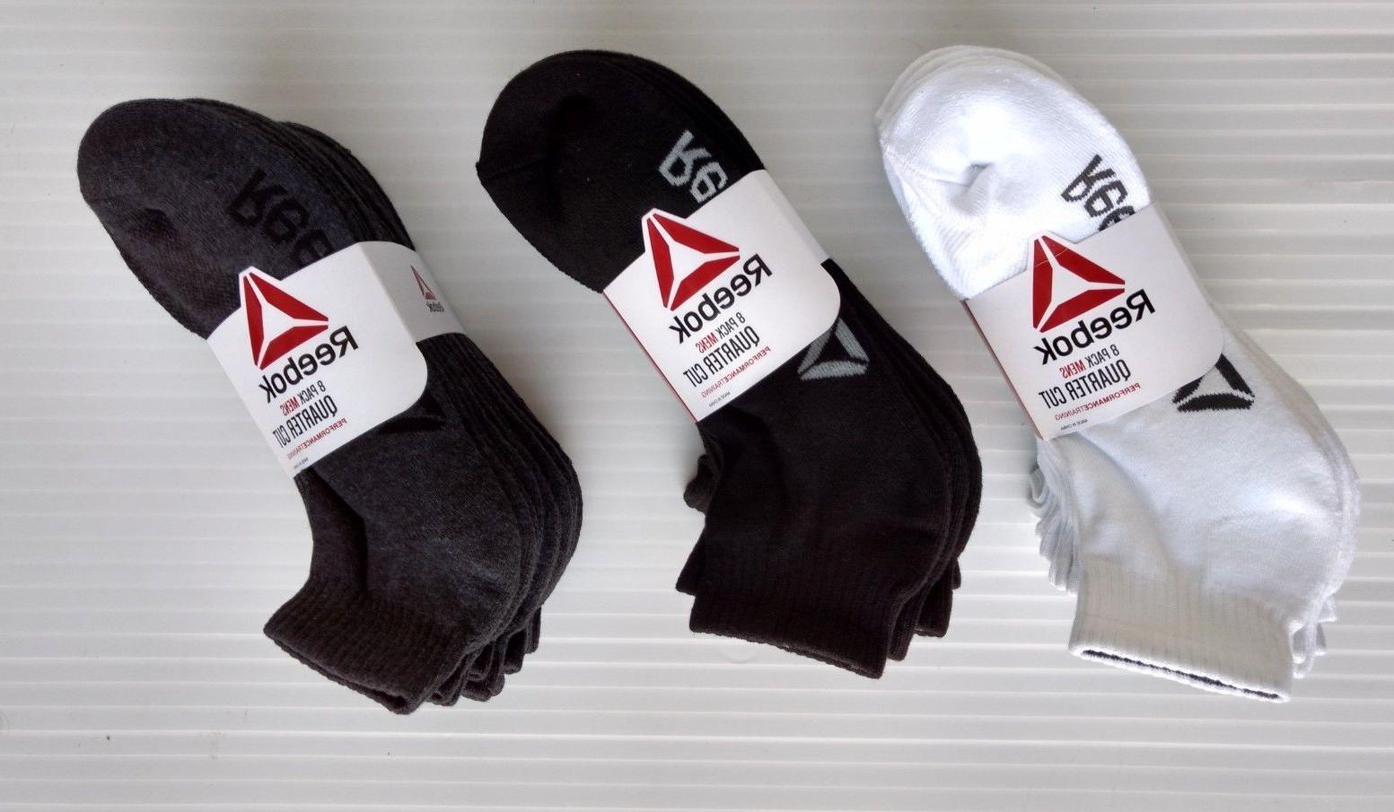 REEBOK Men's Quarter Cut Sport Performance Training Socks -