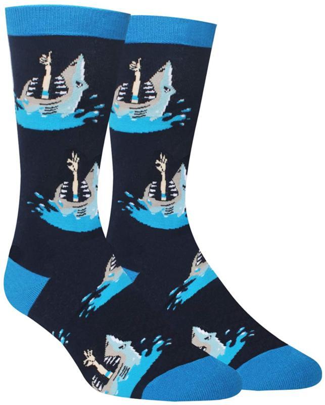 men s shark llama sloth corgi socks