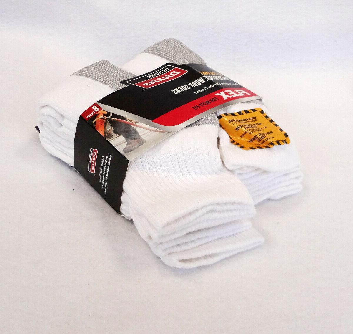 DICKIES Men's Socks DRI-TECH ANKLE 6 Pairs Performance WORK