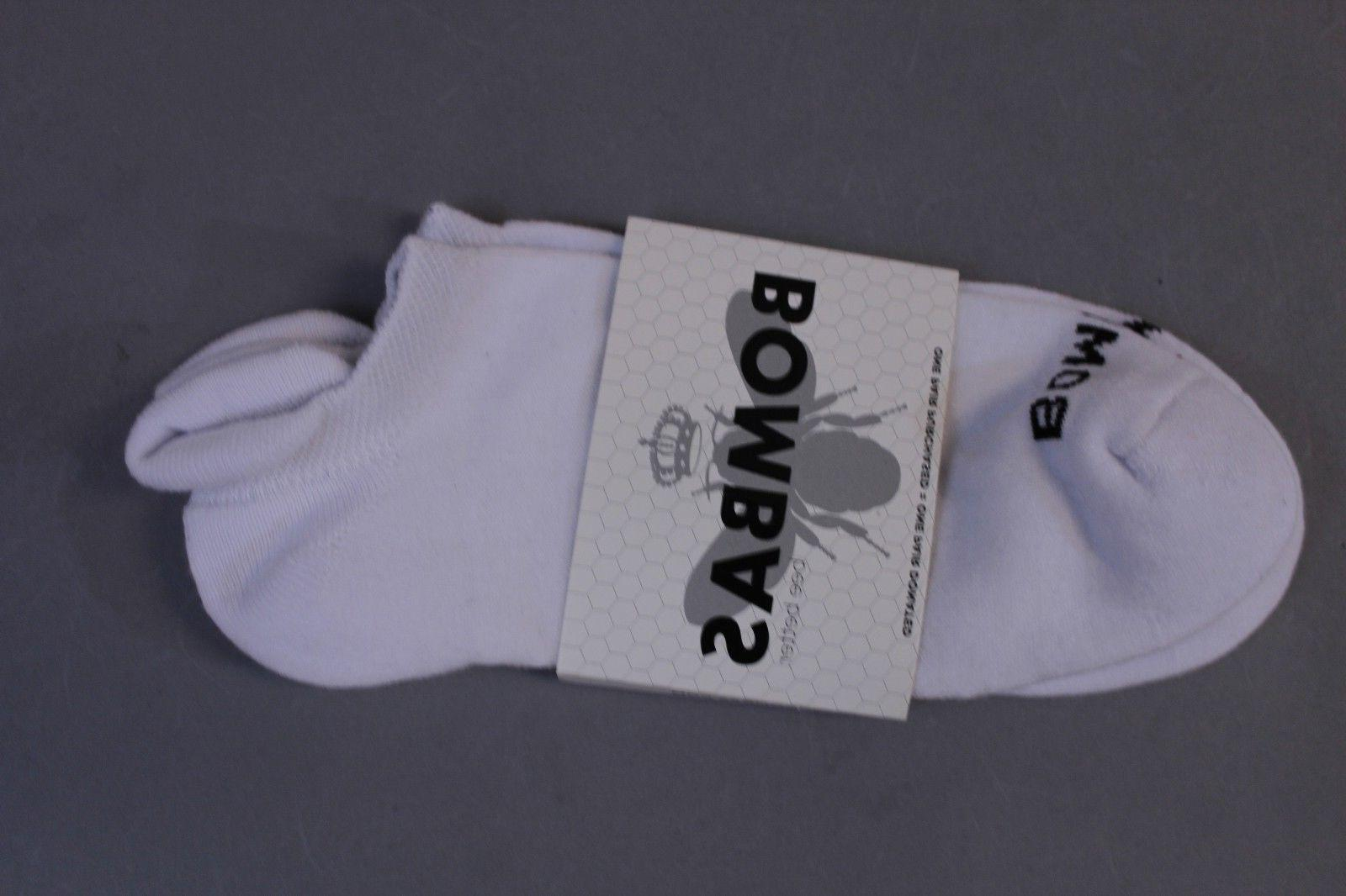 Bombas Men's Solid Ankle Socks White MM1 Size Large  NWT