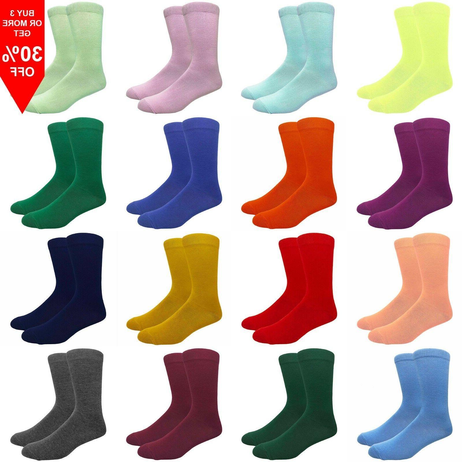 men s solid color cotton dress socks