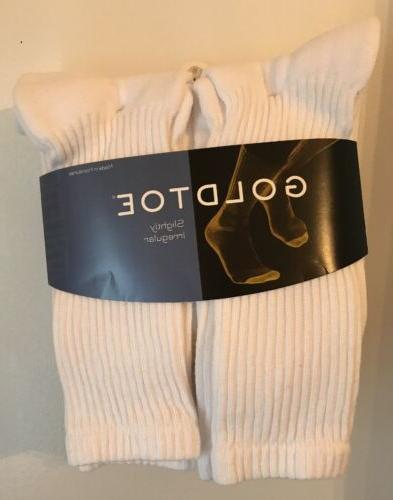 Gold Toe® Men's White Cushion Cotton Crew Socks, 6 Pair, so
