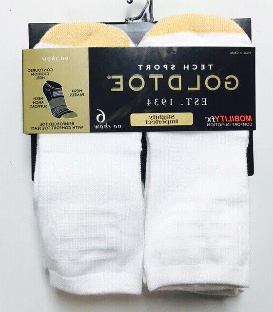 Gold Toe No Sport Sock 6 pair Sock Size 10-13