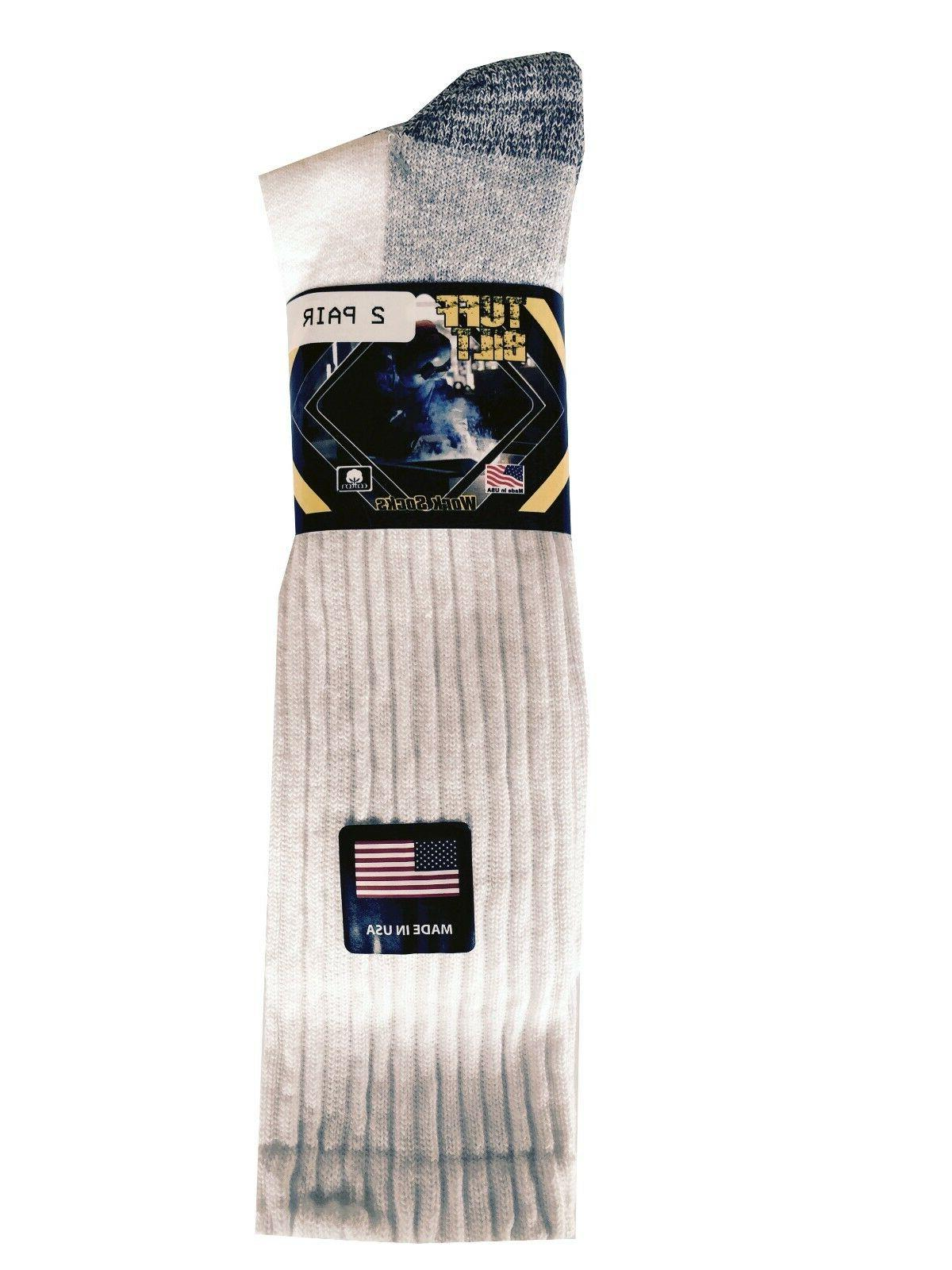 """MEN'S BOOTS SOCKS 2-Pack 8-12 Made """"OVER THE"""