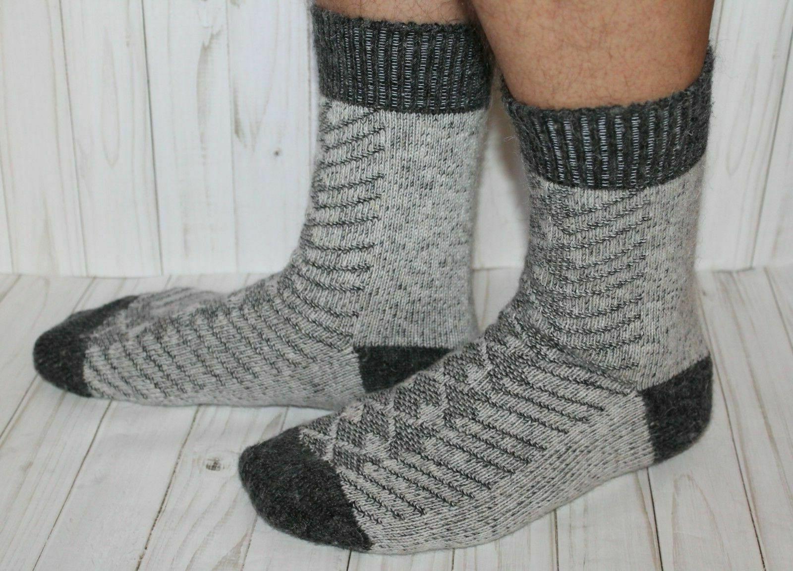 men socks gray 100 percent pure natural